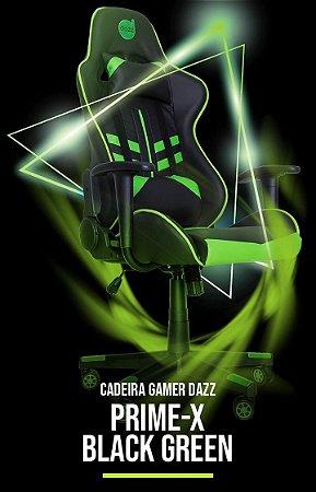 CADEIRA GAMER DAZZ PRIME-X PRETO/VERDE