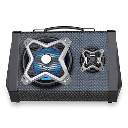 CAIXA DE SOM MULTILASER BT/USB/FM/AUX/SD/MIC/LED 120W SP314