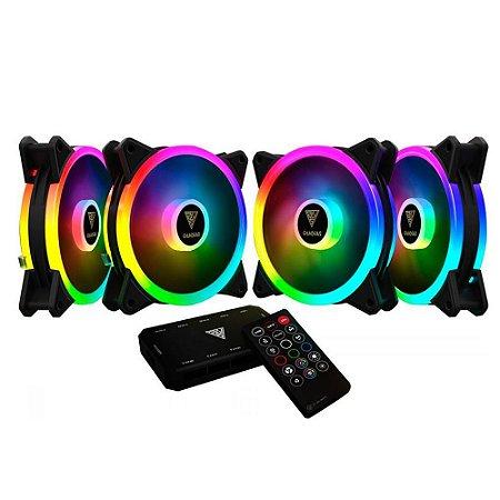 KIT GAMDIAS 4 FANS RGB AEOLUS COM 4 FANS AEOLUS M2-1204R