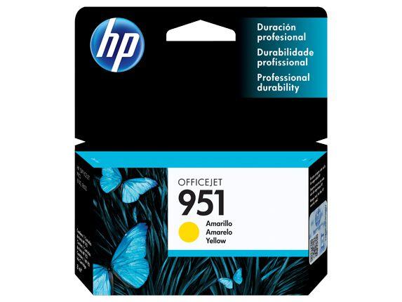 CARTUCHO ORIGINAL HP 951 YELLOW CN052AL