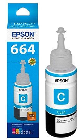 Refil tinta epson 664 ciano - t664220