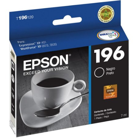 CARTUCHO ORIGINAL EPSON BLACK P/  XP401 - T196120