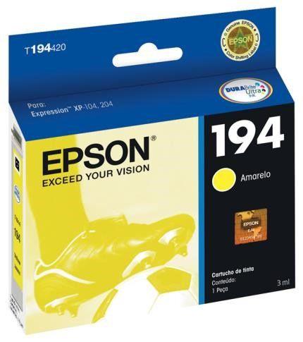 Cartucho Original Epson 194 Yellow - T194420  Xp104 / Xp204