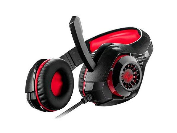 Warrior fone de ouvido headset com led multilaser ph219