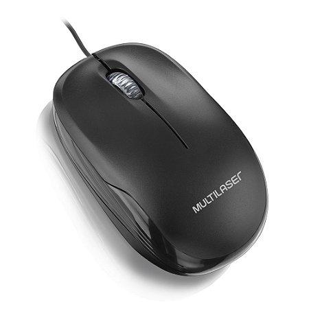 Mouse box optico preto usb multilaser mo225