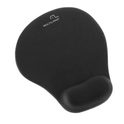 Mouse pad gel normal preto multilaser ac024