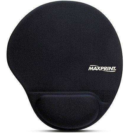 Mousepad preto com apoio em gel maxprint