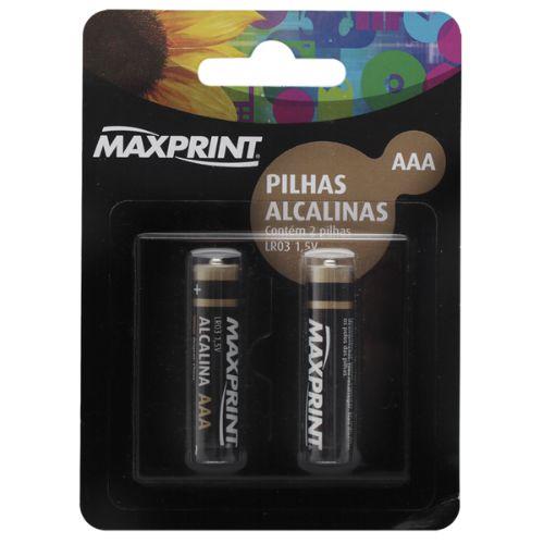 Pilha alcalina maxprint aaa pal c/2 aaa max 75 6358