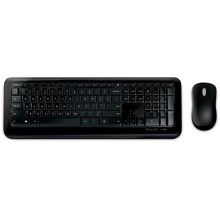Microsoft teclado e mouse sem fio desktop 850 usb preto
