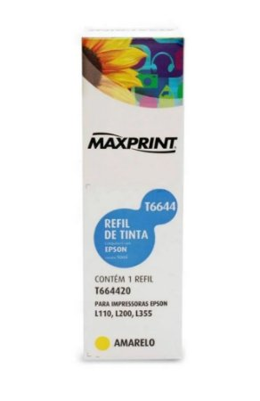 Refil tinta maxprint uni comp com epson yelg t6644 | 673420