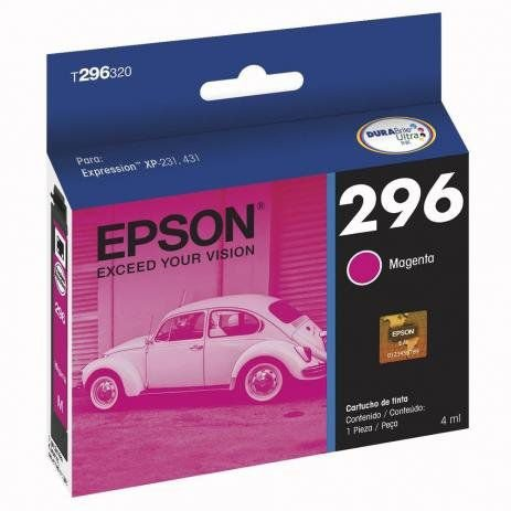 cartucho original epson 296 t296320 magenta p/xp231/xp431