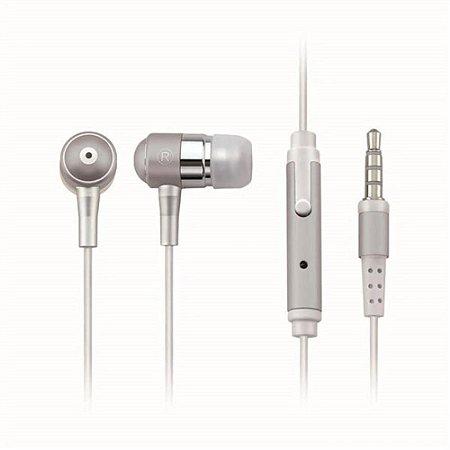 Fone Auricular Com Microfone Prata P2 Multilaser Ph062