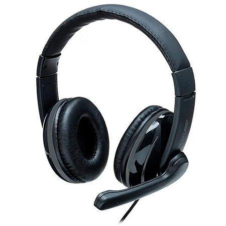 Headset pro p2 preto e cinza multilaser ph316
