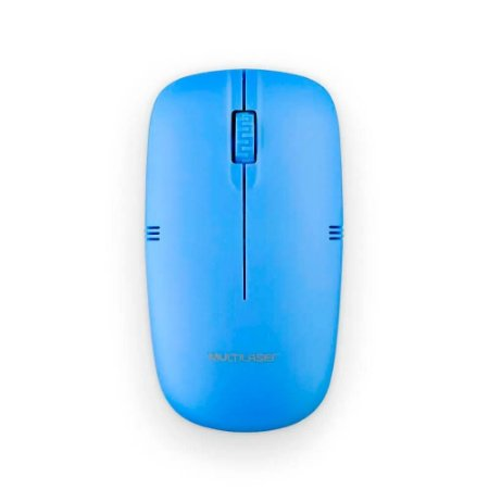 Mouse Sem Fio 2.4ghz Azul Usb Multilaser MO288