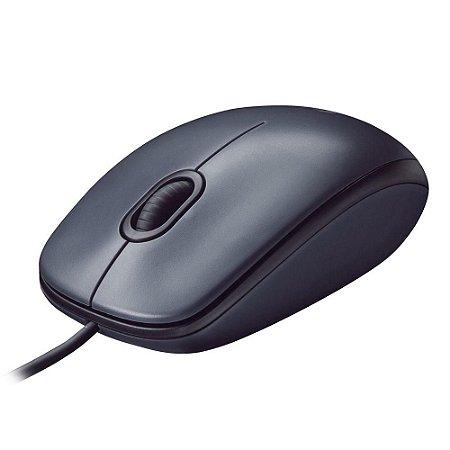 Mouse optico usb 1000dpi - logitech m100 preto