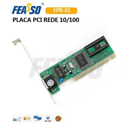 PLACA DE REDE 10/100 FEASSO 104  FPR-01