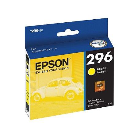 cartucho original epson 296 t296420 amarelo p/ xp231 & xp431