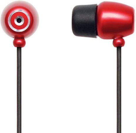 fone de ouvido mini maxprint vermelho