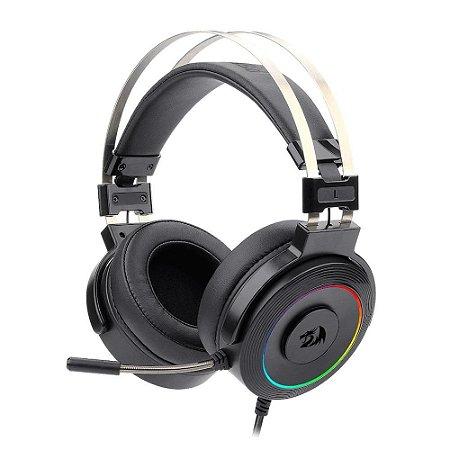 Headset lamia 2 rgb surround 7.1 redragon preto