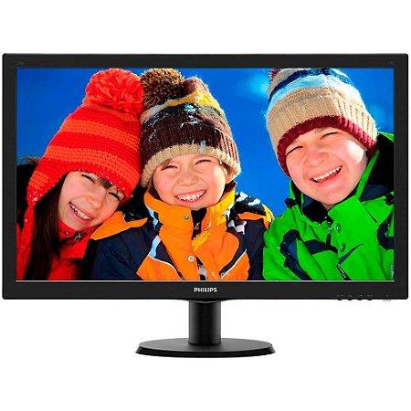 "monitor 27"" led philips - hdmi - dvi - vga - full hd- vesa 273v5lhab"