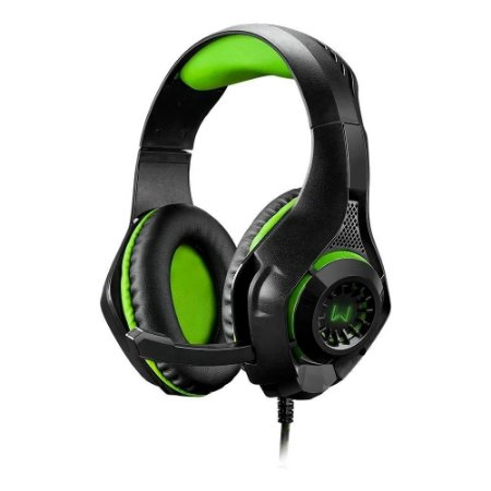 Headset warrior rama gamer usb+p3+p2 green led ph299