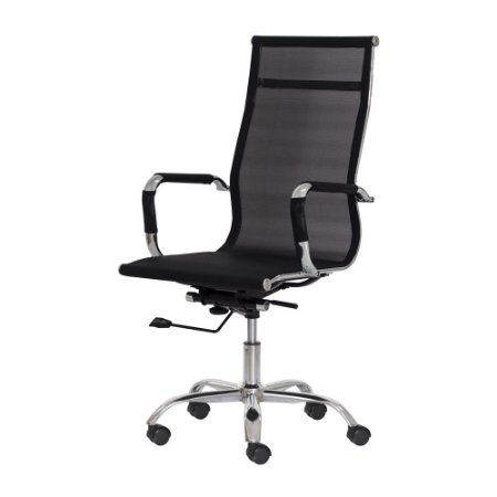 Cadeira Office Cairo Mesh Presidente Preta Import Fda6101pr