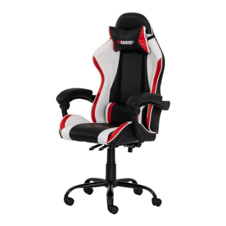 Cadeira Gamer Preta Vermelha E Branca Import Fda5923pvb