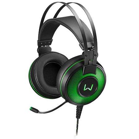 Warrior Raiko Headset Gamer 7.1 Usb Com Led Verde Ph259
