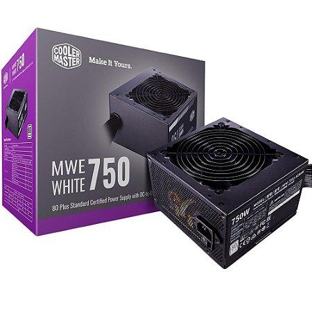 Fonte Cooler Master Mwe 750w 80 Plus - Mpe-7501-acaaw-br