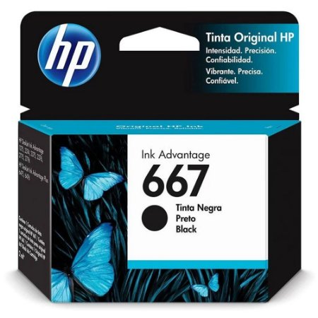 Cartucho Original Hp 3ym79al 667 Preto