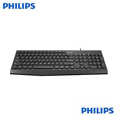 Teclado Multimidia USB Standard Com Fio K313 Philips