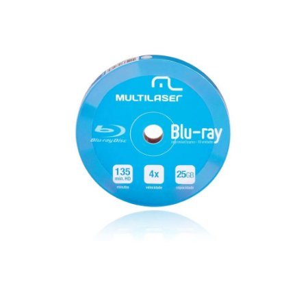 10 Unit Shirink Blu Ray Print Branco Multilaser Dv057