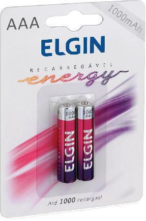 Pilha Elgin Recarregavel Aaa-1000mah Elgin C/2