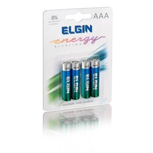 Pilha Alcalina Elgin Aaa (Blister C/4)