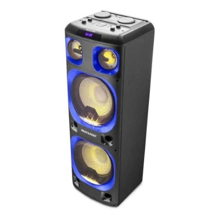 Caixa De Som Torre Double Multilaser 2000w Bt/aux/sd Sp343