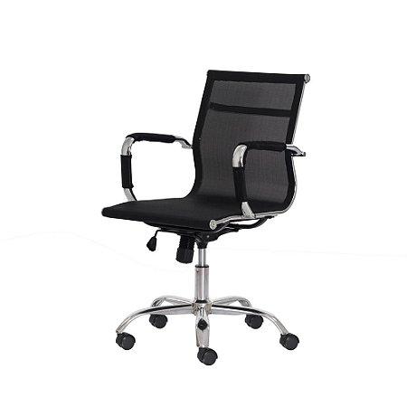 Cadeira De Escritorio Mesh Diretor Preta FDB6889PR