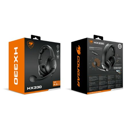 Headset Gamer Cougar HX330 3.5mm Black