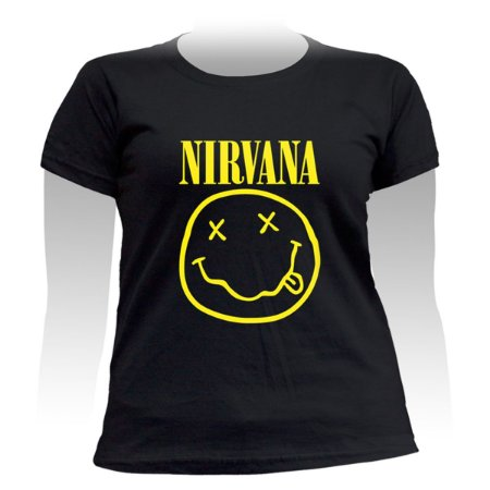 Camiseta Baby Look Plus Size Nirvana Smile - Stamp PSF-303