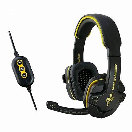 Headset Fone De Ouvido Gamer 7.1 Usb - Bright 0354-N