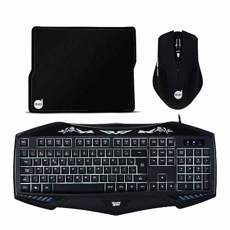 Kit Combo Gamer Mouse + Mousepad + Teclado - IG 03