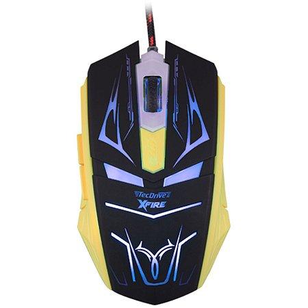 Mouse Gamer 3200 DPI 7 Botoes Xfire Led Azul - TecDrive Neith