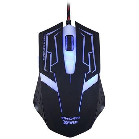 Mouse Gamer 3200 DPI 7 Botoes Xfire Led Azul - TecDrive Skanda