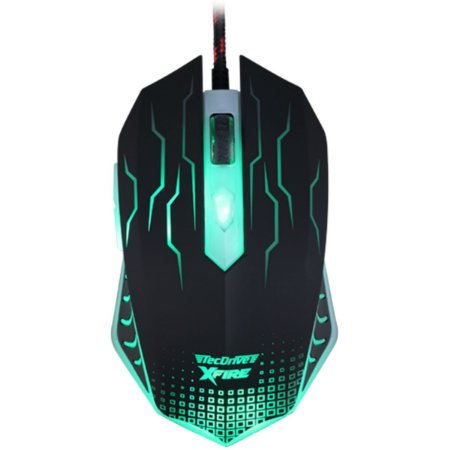 Mouse Gamer 3200 DPI 7 Botoes Xfire Led Verde - TecDrive WuXi