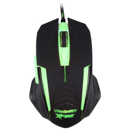 Mouse Gamer 3200 DPI Xfire Led Verde - TecDrive Shinigami