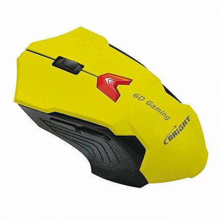 Mouse Gamer Usb 2400 Dpi Amarelo - Bright 0375-N