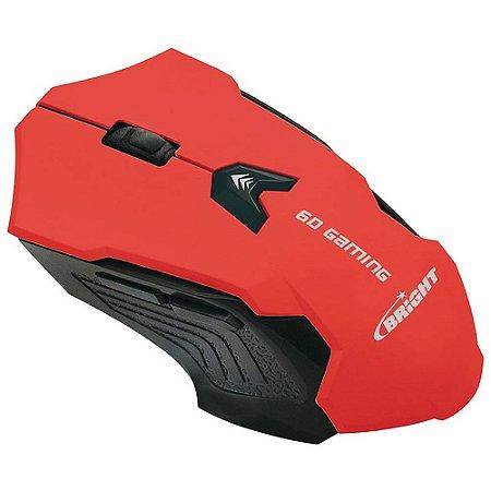 Mouse Gamer Usb 2400 Dpi Vermelho - Bright 0461