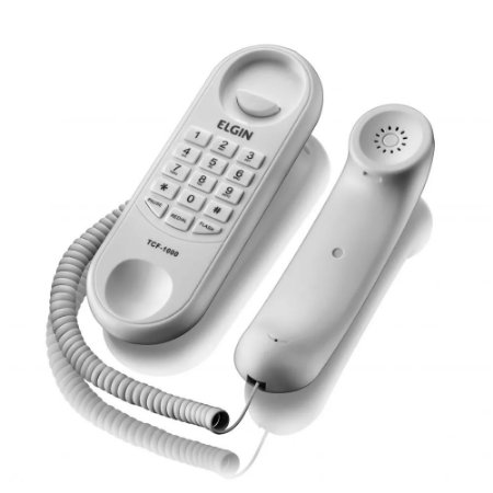Telefone Com Fio Branco - Elgin TCF1000B