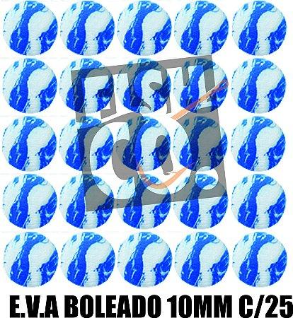 E.V.A 10MM APERTA O PLAY C/25 - AZUL COM BRANCO