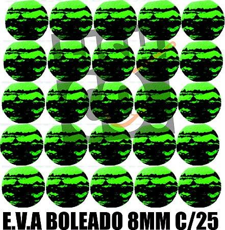 E.V.A 8MM APERTA O PLAY C/25 - VERDE COM PRETO