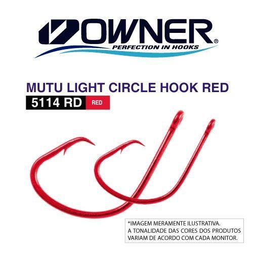 ANZOL OWNER MUTU CIRCLE HOOK RED